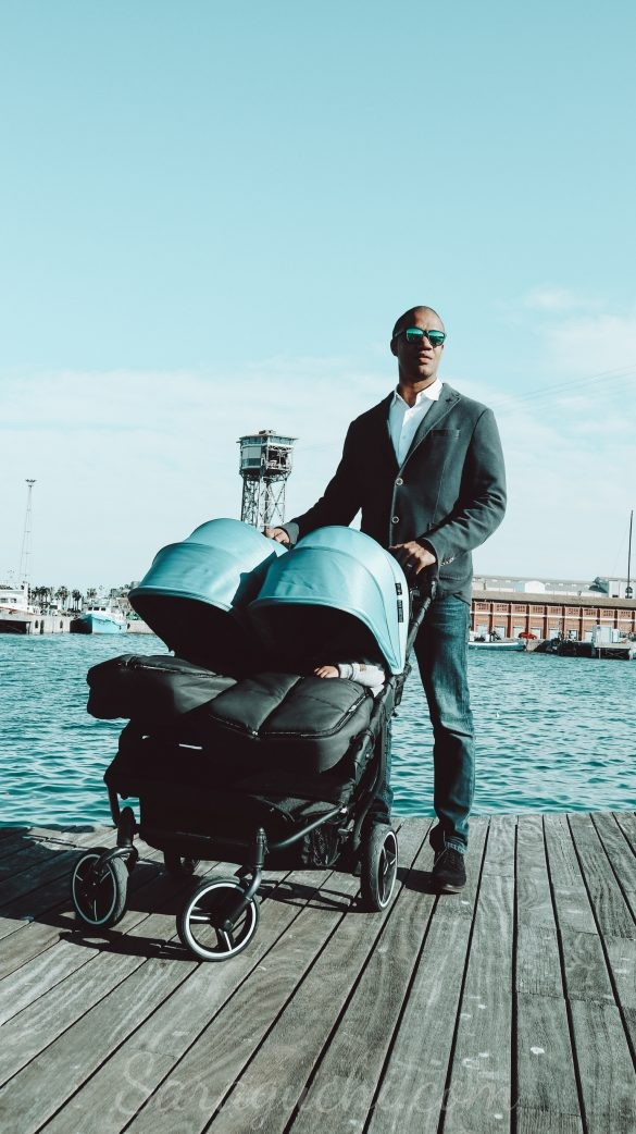 Carro Gemelar Baby Monsters Easy Twin en el Puerto de Barcelona