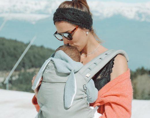 Porteo de bebé con mochila en La Molina
