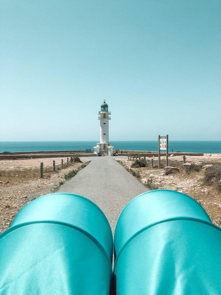 Carretera hacia el Far Cap Barbaria de Formentera