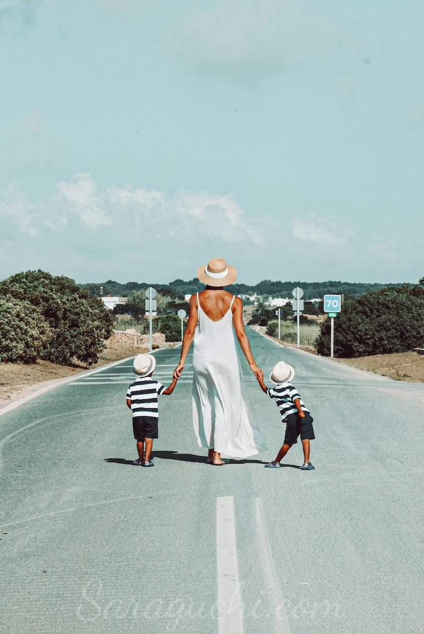 Carretera hacia el Far de La Mola de Formentera