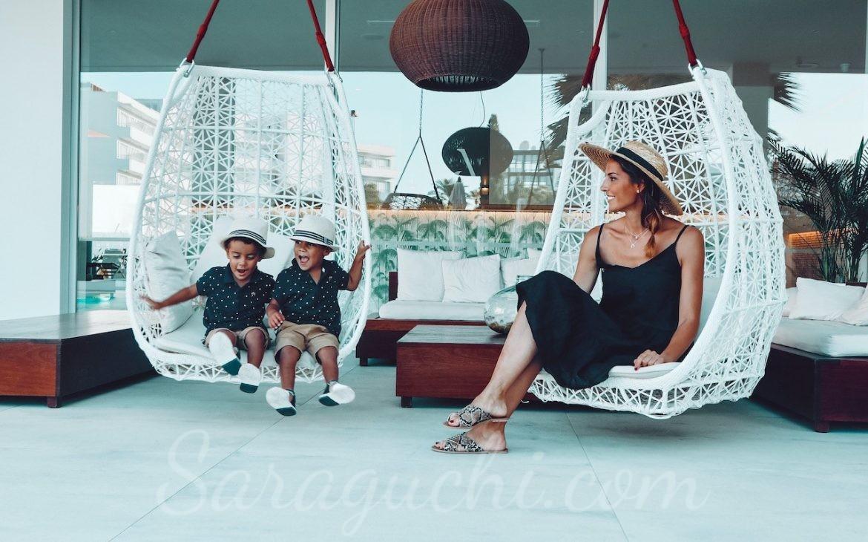 Balancines en la Terraza del Hotel Anfora Ibiza