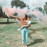Gender Reveal con Bengalas de humo de colores