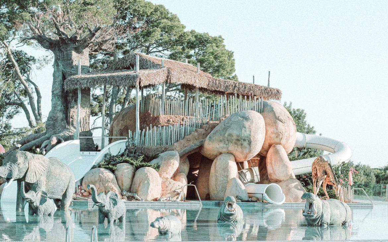Animales de la Africa Pool del Camping & Resort Sangulí Salou