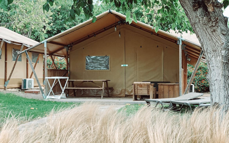 Safari Tents de la zona de África del Camping & Resort Sangulí Salou
